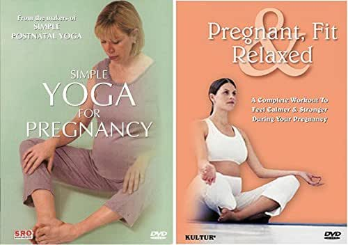 Balanced Natural Pregnancy, Simple Yoga Moms-To-Be - Pregnant Fit Relaxed DVD Set Total Body Wellness Fitness