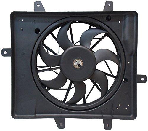(Sunbelt Radiator And Condenser Fan For Chrysler PT Cruiser CH3115118 Drop in Fitment)