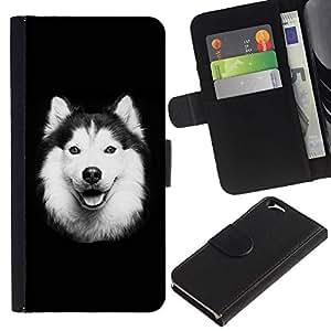 All Phone Most Case / Oferta Especial Cáscara Funda de cuero Monedero Cubierta de proteccion Caso / Wallet Case for Apple Iphone 6 // Alaskan Malamute Border Collie Dog