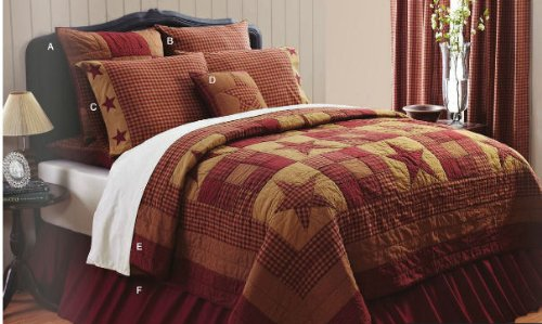 Ninepatch Star King Quilt by VHC Brands