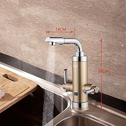 ETERNAL QUALITY Baño Lavabo latón Grifo Toca la Cocina Calentador de Agua eléctrico Velocidad Toca Calentador