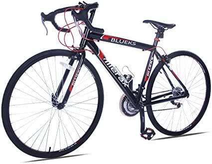 Merax 21 Speed 700C Aluminum Road Bike Racing Bike 50cm Red