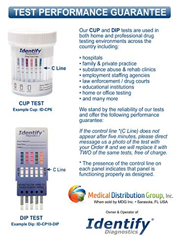 5 Pack Identify Diagnostics 6 Panel Drug Test Cup Testing Instantly for 6 Different Drugs: (THC), (OXY), (MOP), (COC), (BZO), (AMP) #ID-CP6 by Identify Diagnostics (Image #7)