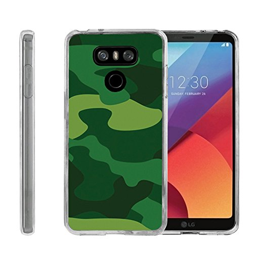 Flexible Soft TPU Gel Skin Case [Ultra Slim] Cover for LG G6 H870 - Forest Green ()