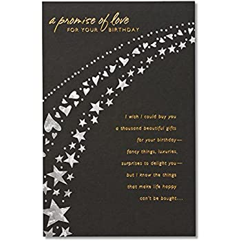 Amazon American Greetings A Promise Of Love Birthday Card For