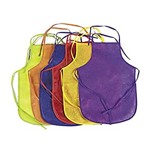(1) - Fun Express Assorted Children's Artists Aprons for Kitchen or Classroom (Pack of 12)