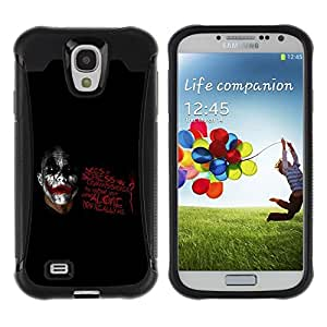 Suave TPU GEL Carcasa Funda Silicona Blando Estuche Caso de protección (para) Samsung Galaxy S4 IV I9500 / CECELL Phone case / / Joker - How Alone You Are /