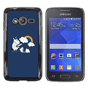 Exotic-Star ( Funny Cute Unicorn Rainbow ) Fundas Cover Cubre Hard Case Cover para Samsung Galaxy Ace4 / Galaxy Ace 4 LTE / SM-G313F