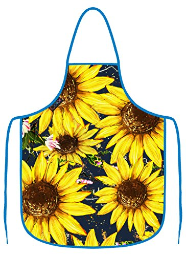 Sunflower Apron - iColor Yellow Flowers Cooking Apron,Funny BBQ or Kitchen Aprons,Machine Washable,Premium Quality Bib aprons for Women and Men,ideal for Kitchen,parties,garden,camping & more | Choose Your Color AP-4