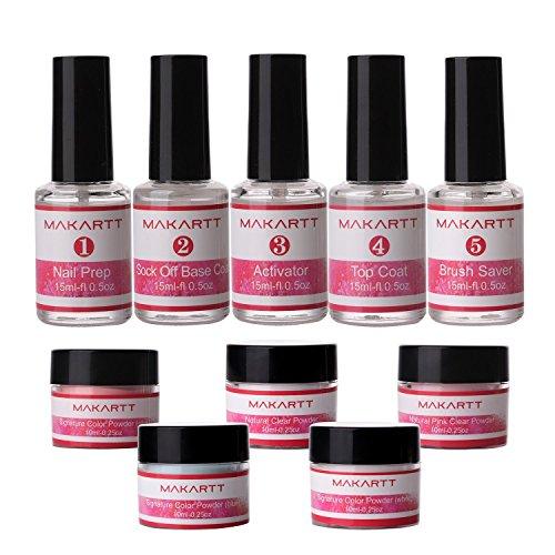 - Makartt Nail Dipping Powder Starter Kit, Gel Nail Color Dip Powder System, UV/LED Light Free, Odorless & Non-yellowing P-02