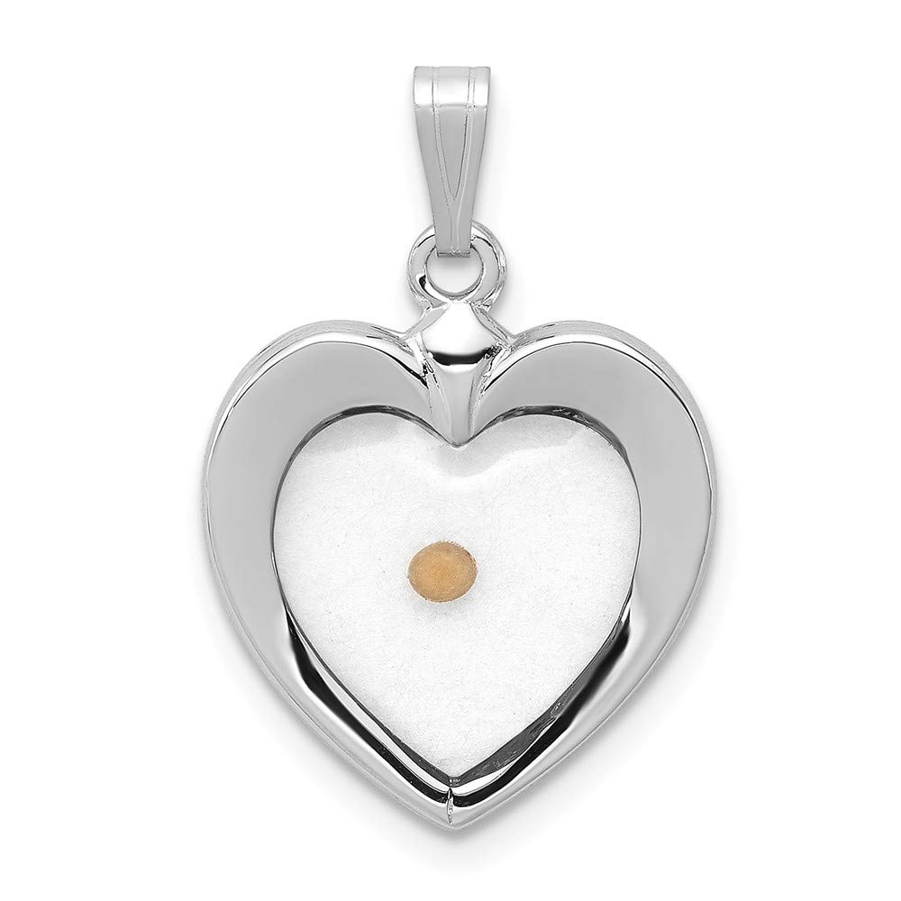 925 Sterling Silver Large Heart Mustard Seed Pendant Charm Necklace Religious Faith Hope Charity Love Fine Jewelry Gifts For Women For Her by ICE CARATS