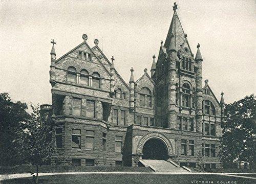 TORONTO. Victoria University - Queen's Park; (Methodist) - 1900 - old print - antique print - vintage print - Toronto art prints