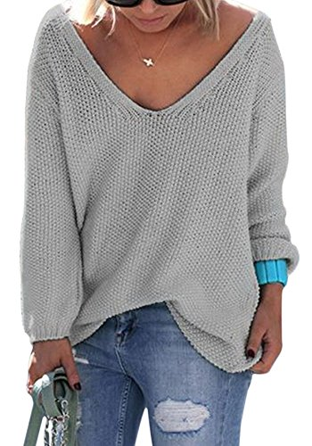new product e0739 bfb8a Minetom Damen Herbst Winter Pullover Langarm Strickpullover ...