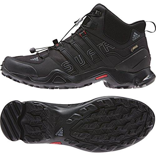adidas Outdoor Terrex Swift R Mid GTX Hiking Boot - Men's Black/Vista Grey/Power Red - Shoes Outdoor