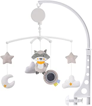 Baby Crib Mobile Bed Bell Hanging Holder Music Box Arch Night Light Newborn Toy