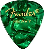 Fender 351 Premium Celluloid Guitar Picks 12-Pack - Green Moto - Heavy