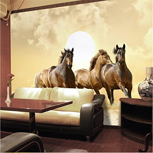 BZDHWWH Hohe Qualität Fototapete 3D Tanzen Pferd Hotel Schlafzimmer ...