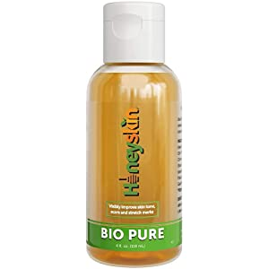 Bio Pure Skincare Oil, Vitamin E Oil for Scars, Body Oil For Stretch Marks, Acne Scar Remover, Stretch Mark Cream for Pregnancy - Scar Cream For Surgical Scars With Sweet Almond Oil and Omega 3 (4oz)