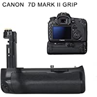 FOSITAN BG-1U Vertical Battery Grip Holder Battery Pack for Canon EOS 7D Mark II DSLR Camera (Replacement for BG-E16) compatible with LP-E6 Battery or 6 Pieces AA Batteries