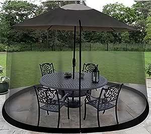Estados Unidos Premium Store 9ft Red de pantalla paraguas mesa Patio al aire libre-Bugs Mosquitos insectos arañas