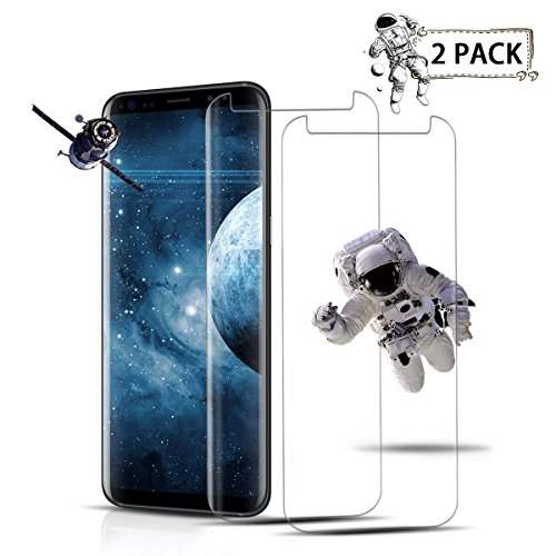 [2-Pack] Compatible Samsung Galaxy S8 Plus Tempered Glass Screen Protector, Wtbone Screen Protector - [No Bubbles][Anti-Glare][Anti Fingerprint] 3D Curved Screen Protector for Galaxy S8 Plus