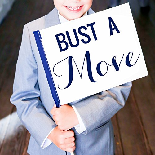 Bust A Move Sign for Wedding Dance Floor Photo Booth or Bar Mitzvah Prop