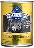 Blue Buffalo Wilderness High Protein Grain Free, Natural Adult Healthy Weight Dog Wet Food, Turkey & Chicken Grill 12.5-Oz Can (Pack Of 12) Review