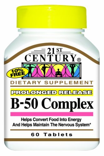 21st Century B-50 Complex Prolonged Release Tablets, 60-Count (Pack of 2) by 21st Century (Tablets Release 50)