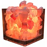 Himalayan CrystalLitez Himalayan Salt Lamp With Dimmer Cord, Original Salt Crystals In A Glass Bowl, Aromatherapy Salt Lamp (
