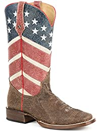Roper Men's American Flag Round Toe Boot