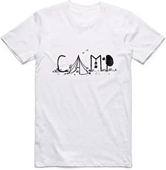 White Camp T-Shirt For Men - size 4XL