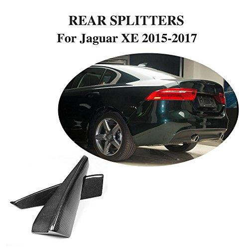JCSPORTLINE Carbon Fiber Rear Bumper winglets Splitters for Jaguar XE 2015-2017 2PCS by jcsportline