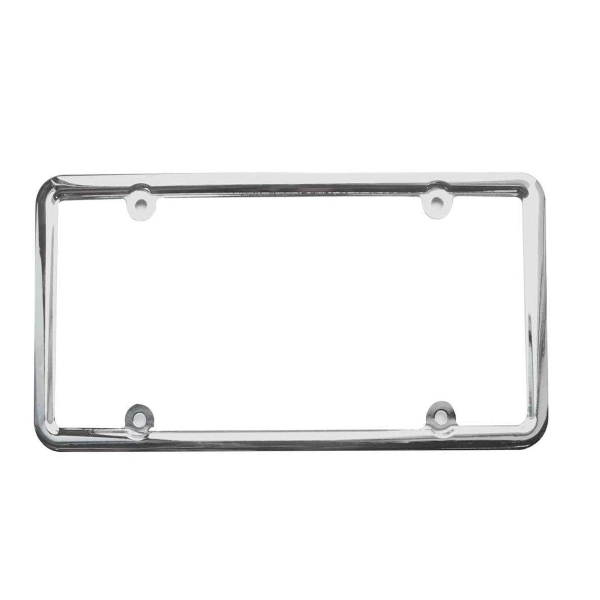 Cadres de support de plaque d'immatriculation en métal en acier inoxydable en acier inoxydable chromé professionnel pour véhicules standard américains Moliies