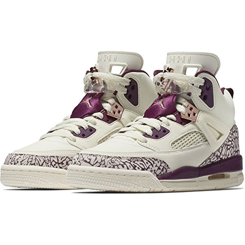 Jordan Girl's Spizike Basketball Shoes, Sail/Bordeaux-Metallic Red Bronze 6.5Y by Jordan