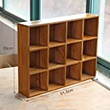 L&QQ 12 large wooden grid storage cabinets lockers finishing cabinet bedroom home wall decor Mural Wall , a