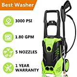 Meditool Electric Pressure Washer 3000 PSI High Pressure Power Washer