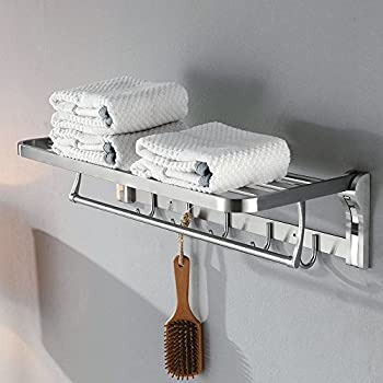Amazon.com: 19.7 Inch Stainless Steel Bath Towel Rack Bathroom Shelf ...