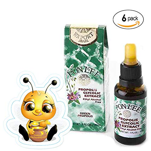 Brazil Propolis Green BEE Propolis: Extract Liquid Alcohol Free - 6 Pack Immunity Booster Supplement 30 ML by PON LEE Brazilian by PONLEE (Image #3)