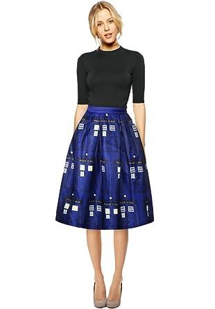 Saoirse - Falda - Falda Escocesa - para Mujer Beige #003Style1 36 ...
