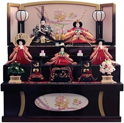 吉徳 雛人形 収納飾り 五人三段収納飾り 間口63×奥行59×高さ64cm 606726