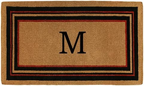 Home More 180062436M Esquire 2 X 3 Extra-Thick Monogrammed Doormat Letter M
