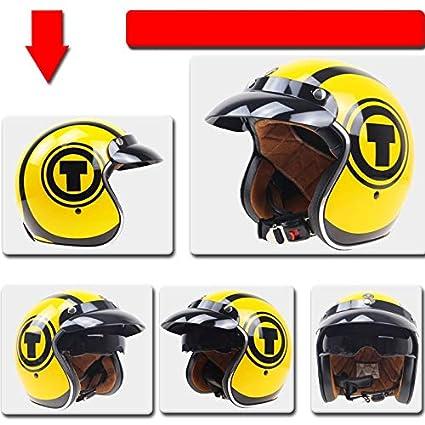 Squalo L LanLan Protezione per motociclista Casco aperto unisex stile vintage con visiera interna Capacete