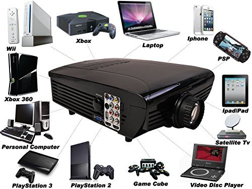 Best NEW Hd Home Theater Multimedia LCD Projector 1080-hdmi Tv DVD Paystation by Goplus