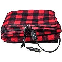 Sports Imports 12V Fleece Heated Electric Travel Blanket