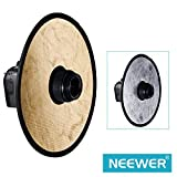 """Neewer 12""""/30CM 2-in-1 Gold & Silver Portable Circular Collapsible Lens-Mount Light Reflector with Long-lasting Zippered Carrying Case"""