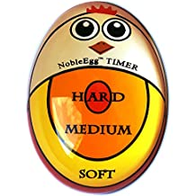NobleEgg Timer | Soft Hard Boiled Egg Timer Color Changing Red Yellow Orange Indicate Eggs Boiling Stages: Soft Medium Hard Boiled | Retail Box | Nontoxic | No BPA BPS BPF, Certified