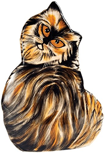 Rescue Me Now Pavilion Gift, Small Tortoise Shell Cat Vase, 8-1/2-Inch - Images Tortoise Shell