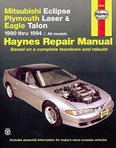 mitsubishi eclipse laser talon 90 94 haynes repair manuals rh amazon com Auto Mobile Manuals Clymer Manuals