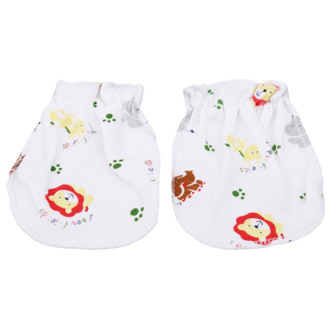 Idiytip Neugeborenen Handschuhe 100% Super Soft Cotton Baby Fäustlinge Infant Pastell Scratch Baumwolle Fäustlinge grüner Frosch QingYing