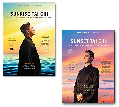 Bundle: Sunrise Tai Chi DVD and Sunset Tai Chi DVDs for Beginners (YMAA) Tai Chi Exercise by Ramel Rones
